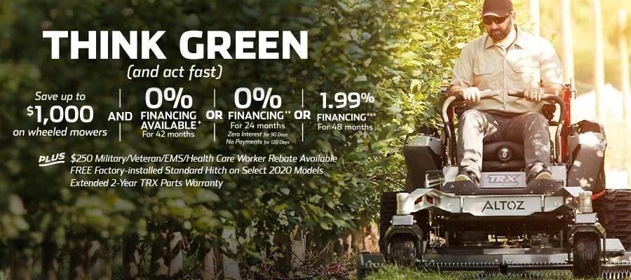 2020 Altoz Think Green Promotion - Until 9/30/2020