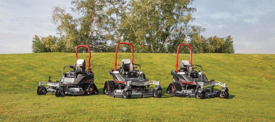 Tracked zero turn mower line up