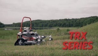 World's first tracked zero turn lawn mower