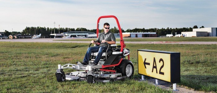 Altoz XC Zero Turn Mower at Airport