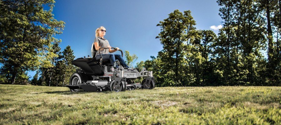 zero turn mower in yard